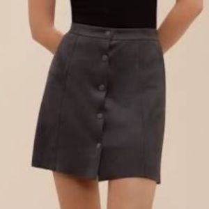 Aritzia Wilfred Free Cantinela faux suede skirt